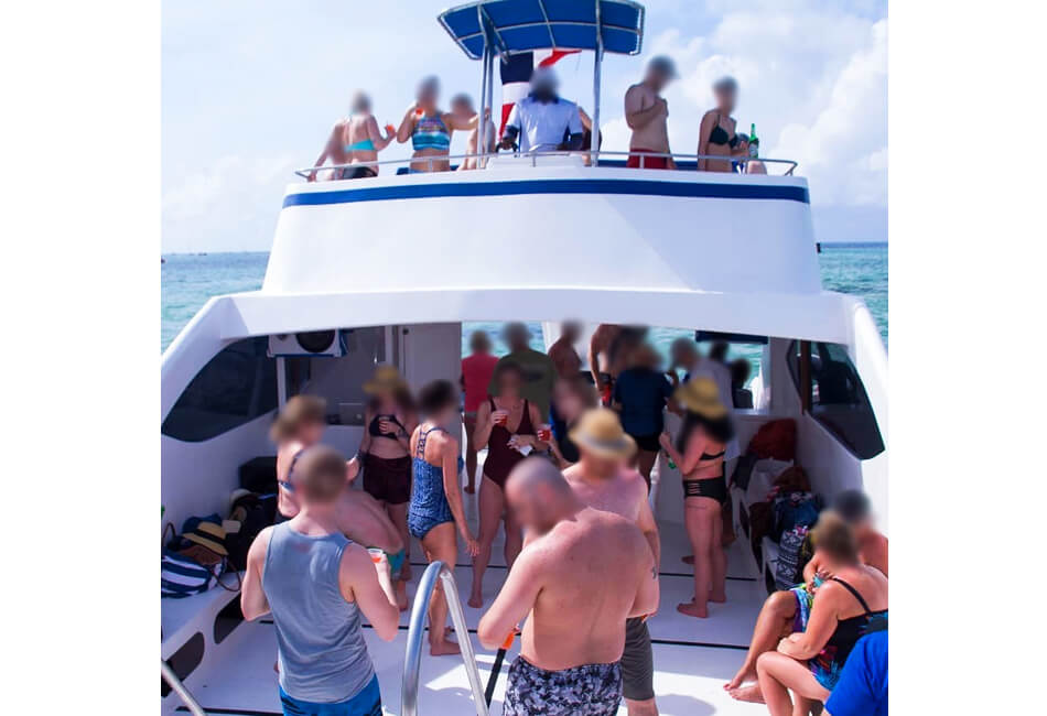 56 Ft Power Catamaran Party Boat With A Waterslide